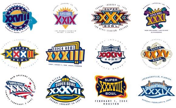 The Sports Design Blog Super Bowl Logo History