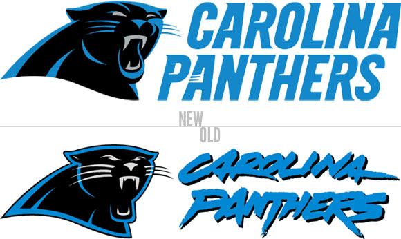 the sports design blog new carolina panthers logo